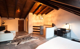 Sótão interior, bonito Foto de Stock Royalty Free