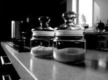 Sótano de la sal y cuenco de azúcar Fotografía de archivo libre de regalías