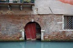 Sótano de un edificio en Venecia Fotos de archivo