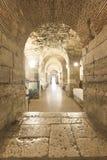 Sótano del palacio de Diocletian Fotografía de archivo libre de regalías