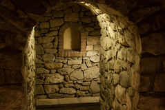 Sótano medieval de los comerciantes Imágenes de archivo libres de regalías