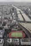 Söder västra Eiffeltornsikt Arkivfoto