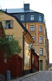 At Södermalm in Stockholm. Old houses at Södermalm in Stockholm Royalty Free Stock Image