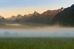 Södra ö för nyazeeländsk Milford Sound Fiordland nationalpark arkivbild