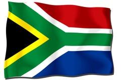 södra africa flagga Fotografering för Bildbyråer
