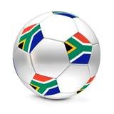 södra africa klassisk flaggafotboll Royaltyfri Fotografi
