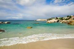 södra africa strandstenblock Arkivbilder