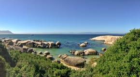 södra africa strandstenblock Royaltyfri Bild