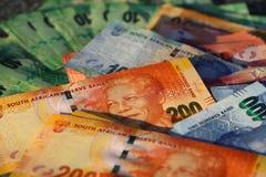 Södra - afrikan Rand Banknotes Arkivfoton