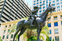 Södra - afrikansk krigminnesmärke, spana, Brisbane Arkivfoto