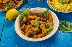 Södra - afrikansk mild curry för lamm för potjie för lammcurry royaltyfria foton