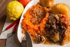 Södra - afrikansk smaklig mat Arkivbilder