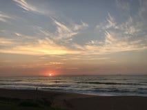 Södra - afrikansk soluppgång Arkivbilder