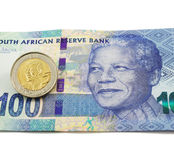 Södra - afrikansk valuta arkivfoton