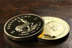 Södra - afrikanska mynt för guld- guldtacka Royaltyfri Foto