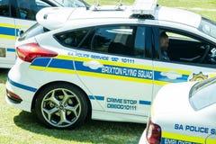 Södra - afrikanska polisbilar - Brixton Flying Squad Arkivbilder