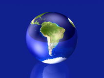 södra Amerika glas- jordklot royaltyfri illustrationer