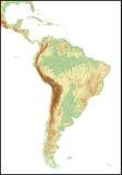 södra Amerika lättnad royaltyfri illustrationer