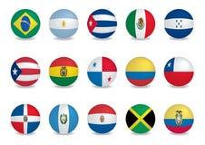 södra Amerika landsflaggor stock illustrationer