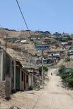 södra Amerika lima slums Royaltyfria Foton