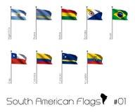 södra amerikanska flaggan vektor illustrationer