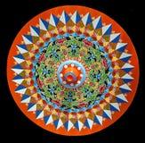 Södra - amerikanskt antikt oxehjul som dekoreras colorfully arkivfoton