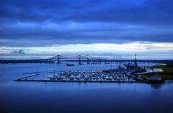 södra carolina charleston hamn Fotografering för Bildbyråer