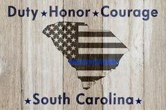 Södra Carolina Duty Honor och kuragemeddelande royaltyfri fotografi