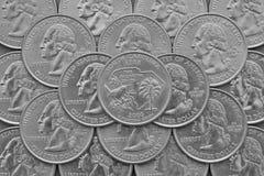 Södra Carolina State och mynt av USA royaltyfri bild