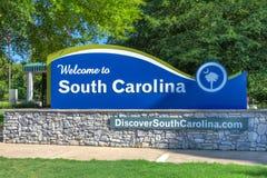 Södra Carolina Welcome Center Sign och logo royaltyfri foto