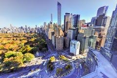 Södra Central Park - New York City Arkivbilder