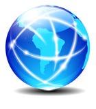Södra data för planet för värld för global kommunikation för Latinamerika vektor illustrationer