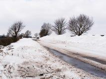 Södra Derbyshire snödrivor Royaltyfri Bild