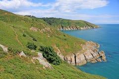 Södra Devon kust Arkivbild