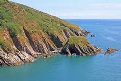 Södra Devon kust Fotografering för Bildbyråer