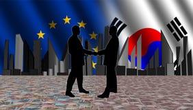 södra europeiskt koreanskt möte stock illustrationer