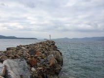 Södra Evia, ö Grekland Royaltyfria Bilder