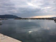 Södra Evia, ö Grekland Arkivfoto