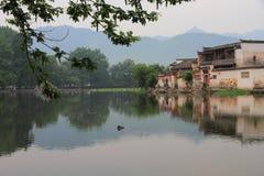 södra by för forntida hongcun för porslin kinesisk arkivbild
