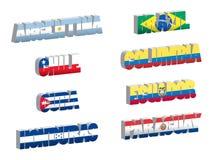 södra flaggor för land america1 stock illustrationer