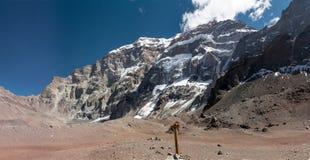 Södra framsida av Aconcagua Royaltyfria Foton