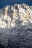 Södra framsida av Annapurna I från den Annapurna basläger, Annapurna fristad, Kaski område, Nepal Arkivfoton