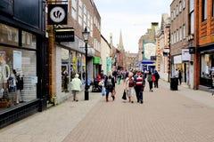 Södra gata, Dorchester, Dorset, UK Royaltyfri Bild