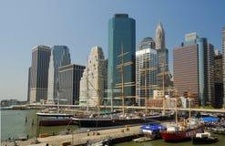 södra gata york för ny seaport Fotografering för Bildbyråer