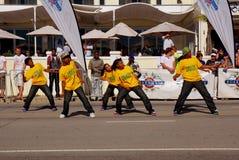 södra grupp för africa dansdiski Arkivbilder