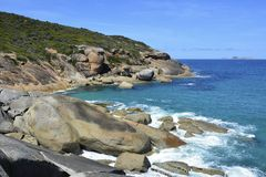 Södra havkustlinje i Wilsons uddenationalpark Royaltyfri Bild