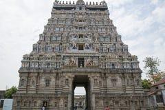 Södra Indien Pondichert för Chidambaram tempel område royaltyfri foto
