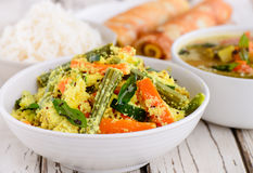 Södra indierKerala lunch royaltyfri foto