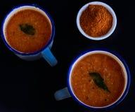 Södra indisk soppa Fotografering för Bildbyråer