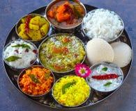 Södra indisk Teluguuppläggningsfatthaali royaltyfria foton